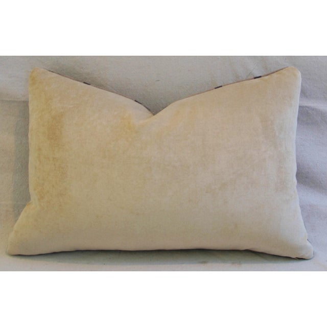 """23"""" X 16"""" Custom Tailored Gucci Cashmere & Velvet Feather/Down Pillows- Pair - Image 8 of 10"""