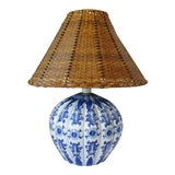 Image of Blue & White Porcelain Table Lamp For Sale