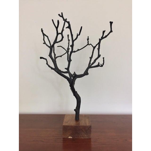 Organic Contemporary Bronze Manzanita Jewelry Tree For Sale - Image 4 of 6