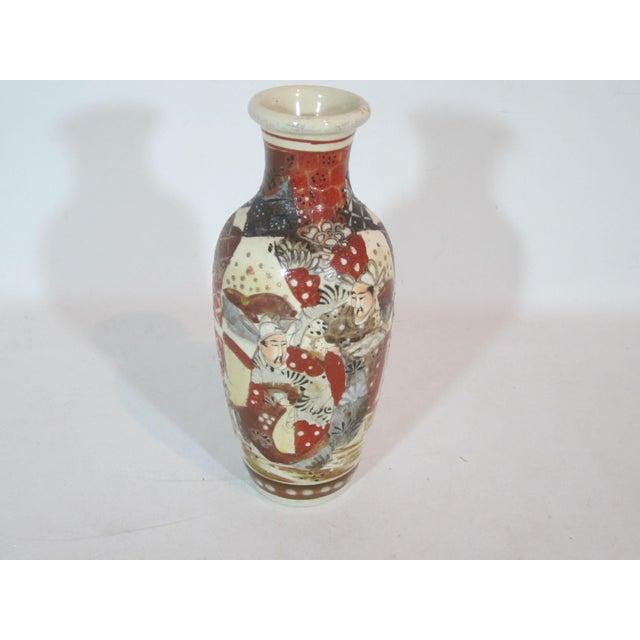 Antique Japanese Samurai Satsuma Vase Chairish