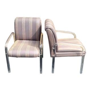 Kagan/Preview Lucite Club Chairs - a Pair For Sale
