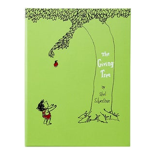 """The Giving Tree"" by Shell Silverstein, Bonded Leather Book in Lime For Sale"