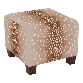 Fawn Natural Oga Square Ottoman For Sale
