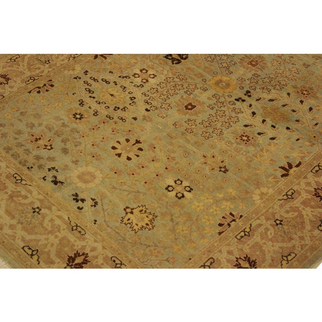 Istanbul Lakh Lt. Blue/Lt. Tan Turkish Hand-Knotted Rug -4'3 X 6'1 For Sale In New York - Image 6 of 8