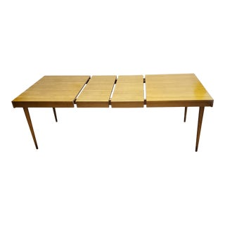 Edmond Spence Blond Lacquered Birch Dining Table Made in Sweden. For Sale