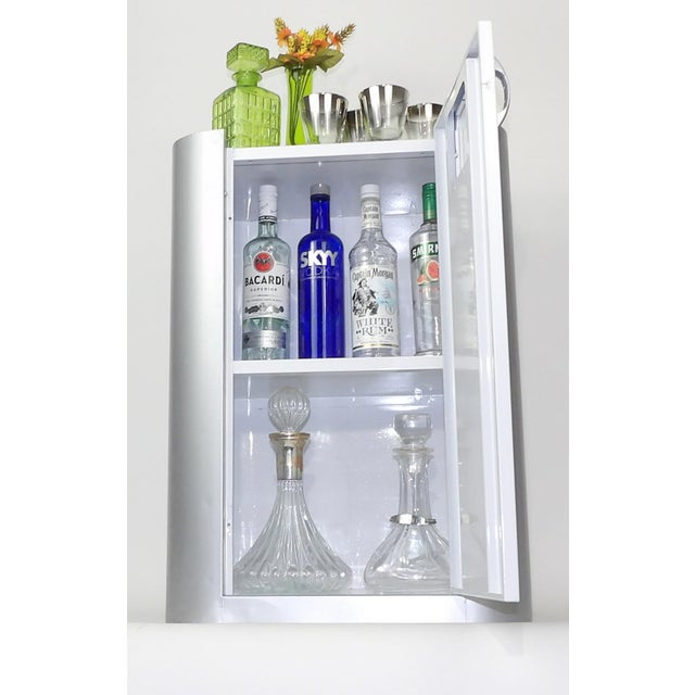 Bar Cart Bar Cabinet Wine Barware Storage Coffee Station Barcart Gray White Shelf Living Room Entertaining Dining Table...