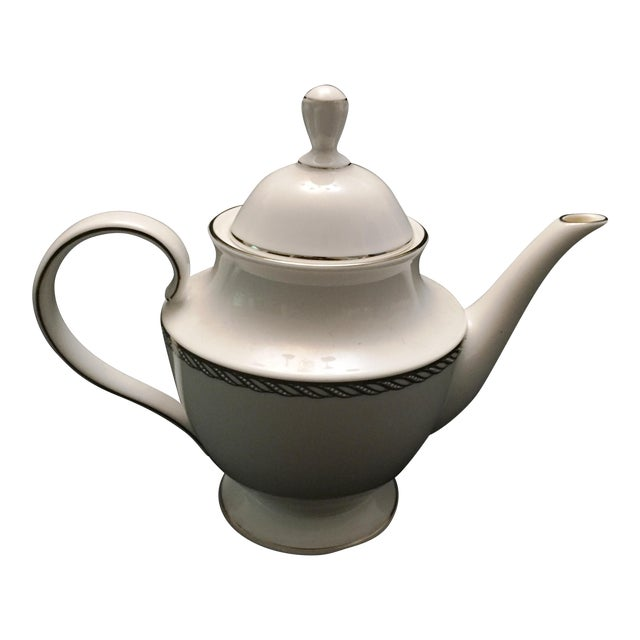 Lenox China Serpentine Teapot - Image 1 of 8