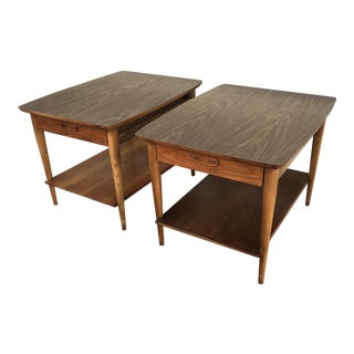 Mid-Century Lane Side Tables - A Pair