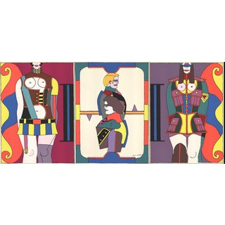 """Changing Sexuality (Triptych)"" by Richard Lindner For Sale"