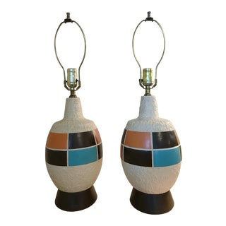 1960s Mid Century Modern Lamps - a Pair For Sale
