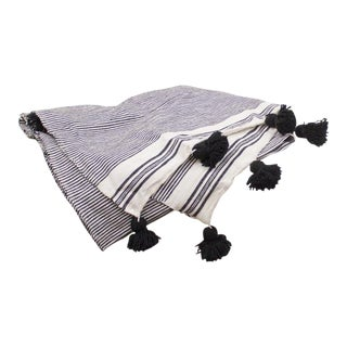 Moroccan Tassel Pom Pom Cotton Throw