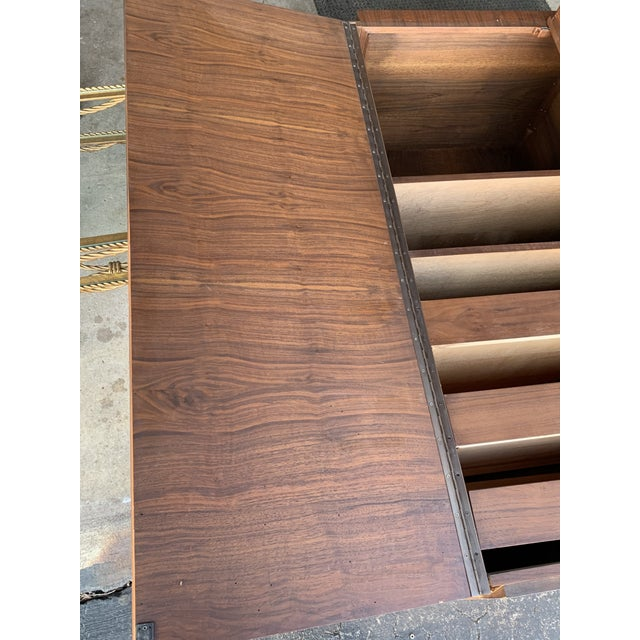 1970s Vintage Brutalist Canadian Walnut Gentlemen's Chest For Sale - Image 9 of 13
