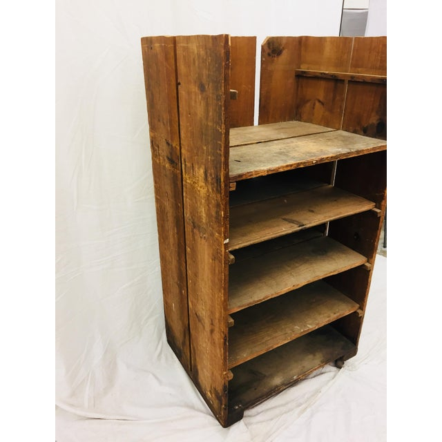 Wood Antique Wood Factory Cart For Sale - Image 7 of 11