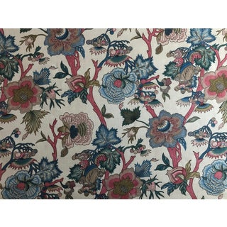 """Jacobean Northcroft """"Jaipur"""" Floral Fabric - 1 3/4 Yards For Sale"""