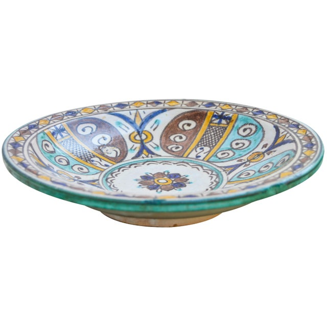 Early 20th Century Moorish Ceramic Wall Plate For Sale - Image 5 of 9