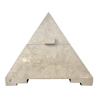Tessellated Stone Pyramid Box For Sale