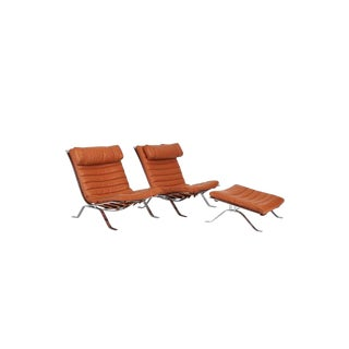 Arne Norell Ari Chairs With Ottoman, Sweden, 1970s - Set of 3 For Sale