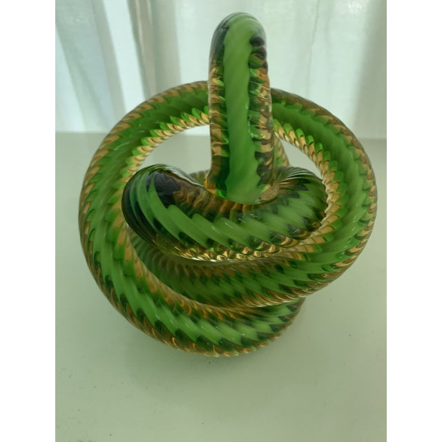 Czech Republic Glass Knot by Fusion Z For Sale - Image 4 of 7