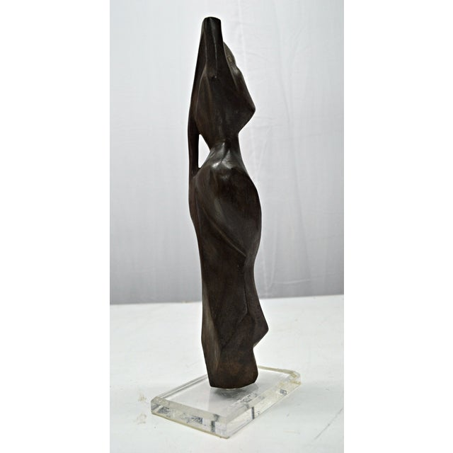 Hand Carved Wood Female Nude Sculpture For Sale In Miami - Image 6 of 11