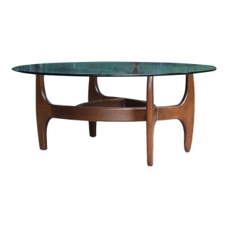 Mid Century Walnut Adrian Pearsall Danish Modern Style Coffee Table For Sale
