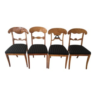 Vintage Swedish Biedermeier Side Chairs - Set of 4 For Sale