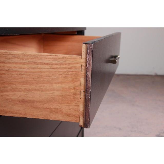 Kent Coffey Perspecta Mid-Century Modern Ebonized Highboy Dresser For Sale - Image 11 of 13
