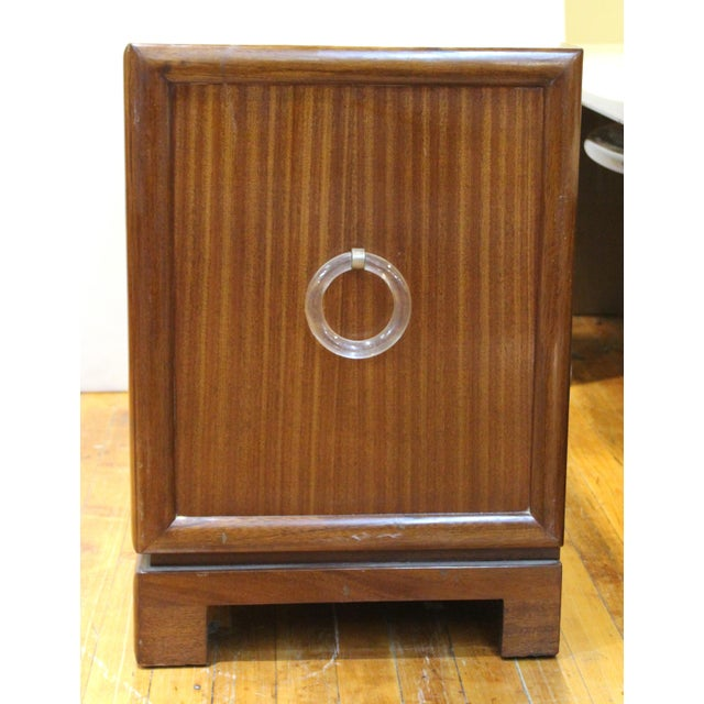 Grosfeld House Art Deco Mahogany Low Cabinets or Nightstands - a Pair For Sale - Image 10 of 13