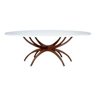 Jacks Solid Walnut Dining Table or Desk-Quartz Top For Sale