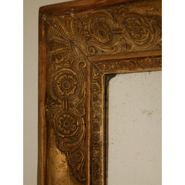 Early 19th Century Petite All Original 18th C. Antq French Gilt Framed Sugar Mirror For Sale - Image 5 of 12