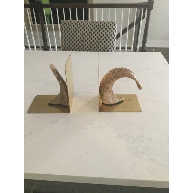 Handmade Brass & Horn Bookends - A Pair - Image 7 of 7