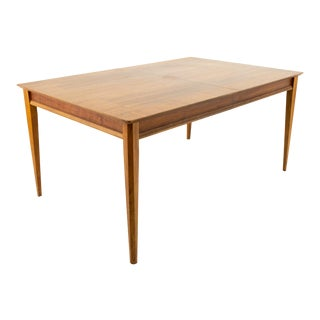Lane First Edition Mid Century Rectangular Walnut 10 Person Dining Table For Sale