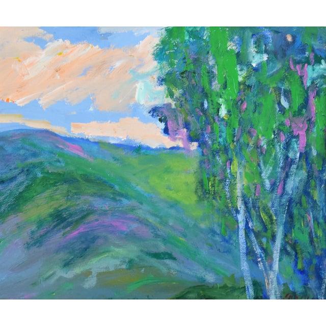 "Ojai, California landscape abstract oil painting on Masonite artist board by California artist Juan ""Pepe"" Guzman-..."