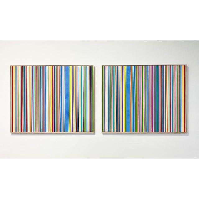 "Exclusive John O'Hara ""Sardinia, 4"" Encaustic Paintings (2-Panel) For Sale - Image 9 of 10"