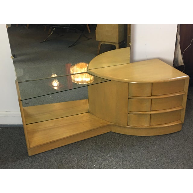 Mid-Century Modern Heywood Wakefield Sculptura Vanity For Sale - Image 3 of 10