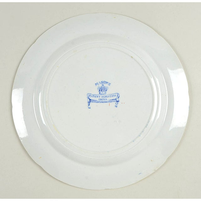 Early 20th Century Mason's Luncheon Plate - Set of 5 For Sale - Image 5 of 7