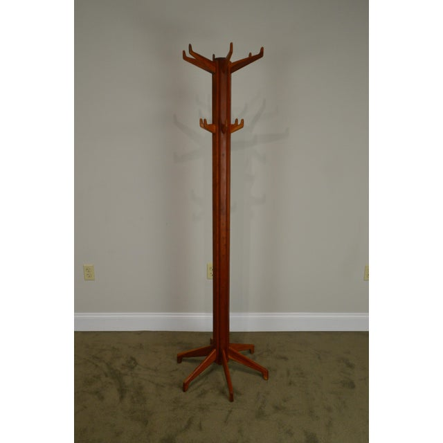 Studio Crafted Solid Cherry Clothes Tree For Sale - Image 4 of 13