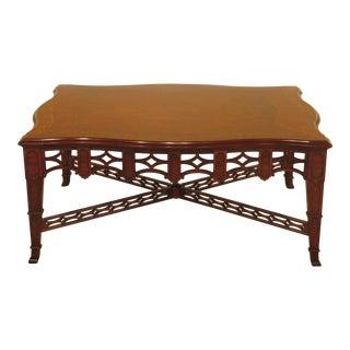 Henkel Harris Model #5255 Large Mahogany Coffee Table