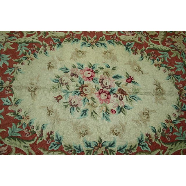 "Vintage Decorative Hooked Rug - 8'10"" x 12'2"" - Image 3 of 6"