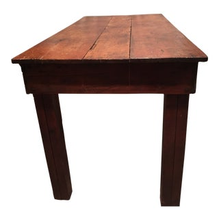 Rustic Farmhouse Handmade Wood Rectangular Kitchen Table For Sale