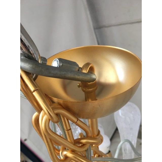 Mid-Century Modern Chandelier Sputnik Brushed Gold Murano Glass For Sale - Image 3 of 11