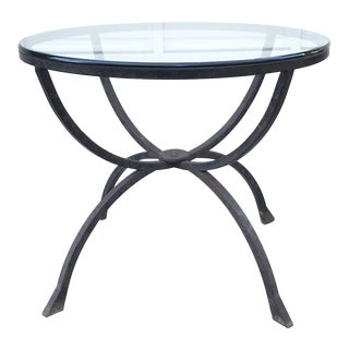 Sculptural Iron & Glass Table