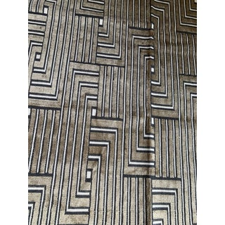 Lee Jofa Groundworks Louvered Maze Cut Velvet Fabric Remants For Sale
