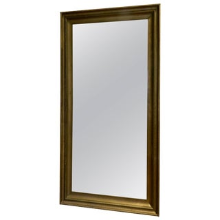 Large Painted Wood Mirror, 20th Century For Sale