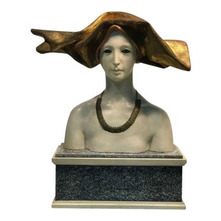 Mid 20th Century Female Bust Art Nouveau Style by Ben Venny For Sale