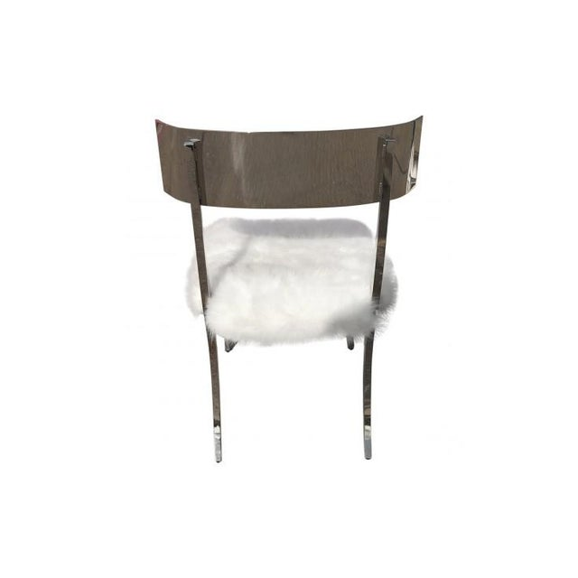2010s Bernhardt Gustav Metal Chair For Sale - Image 5 of 6