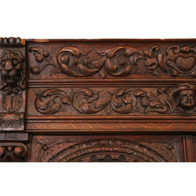 Antique French Buffet Hunting Style Cabinet - Image 8 of 8