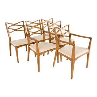 Mid Century Johannes Anderson 101 Style Walnut Bowtie Dining Chairs - Set of 6 For Sale