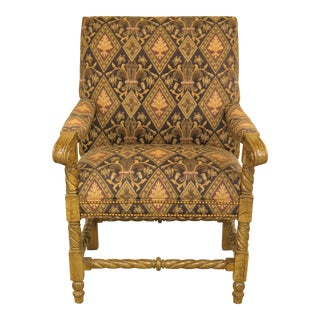 Hancock & Moore Upholstered Armchair For Sale
