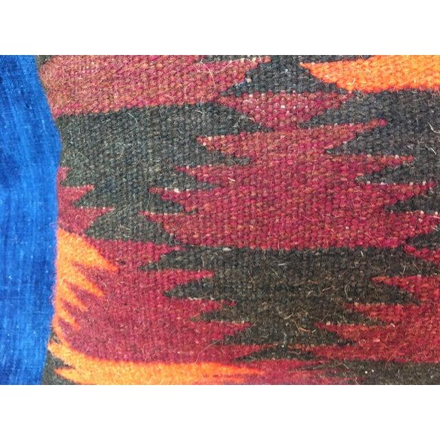 Boho Chic Pillow With Turkish Kilim Fragment - Image 4 of 5