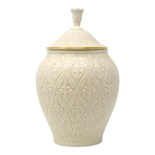 "Lenox China ""Kismet"" Ginger Jar With 24k Gold Trim For Sale"